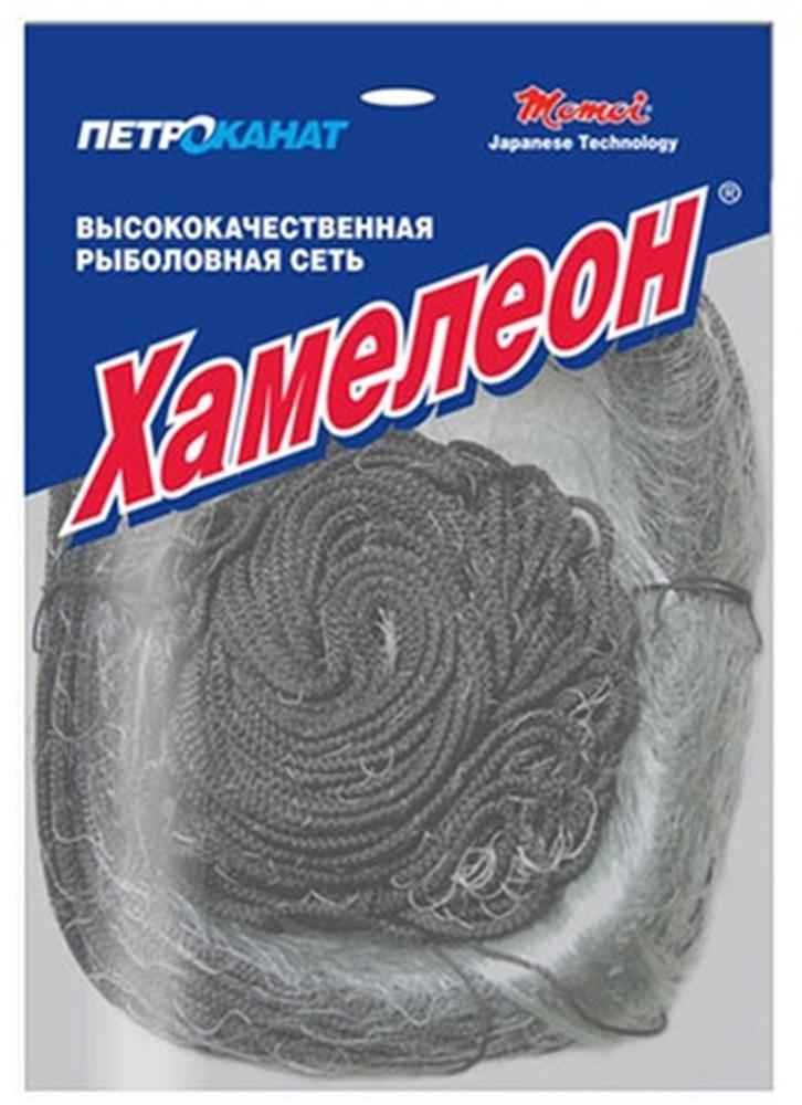 Сеть ХАМЕЛЕОН-Standard, одностенка, скрученная леска  0,12мм*3, h-1,8м,  L-30м, шнуры 6/14гр, ячейка - 60 мм