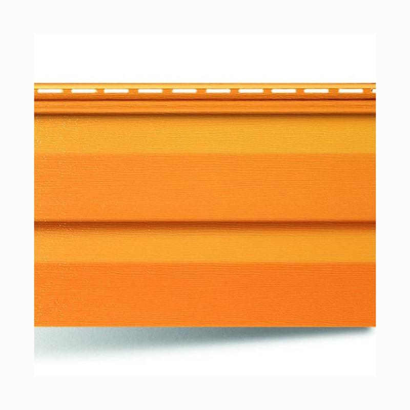 """Виниловый сайдинг Альта-Профиль """"Kanada плюс""""– Оранжевый (Премиум)"""